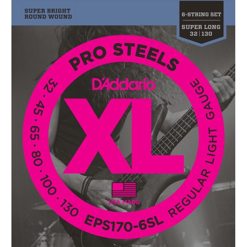 Compra daddario eps170-6sl prosteels 6-string bass, light, [32-130] al mejor precio