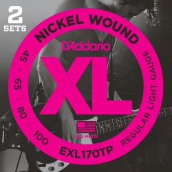 daddario exl170tp- xl nickel wound (pack 2 juegos)
