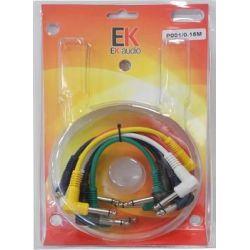 EK Audio P001 Set Latiguillos JACK-JACK para pedales 6 Unidades 15cmt
