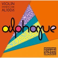 Thomastik Infeld Juego 1/2 Cuerdas para violín ALPHAYUE núcleo de nylon