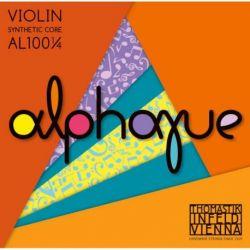 Thomastik Infeld Juego 1/4 Cuerdas para violín ALPHAYUE núcleo de nylon