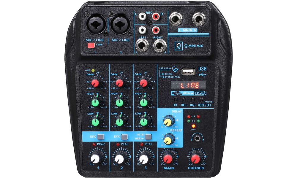 Compra OQAN Mixer Q Mini USB Mixer mesa de mezclas analogica al mejor precio