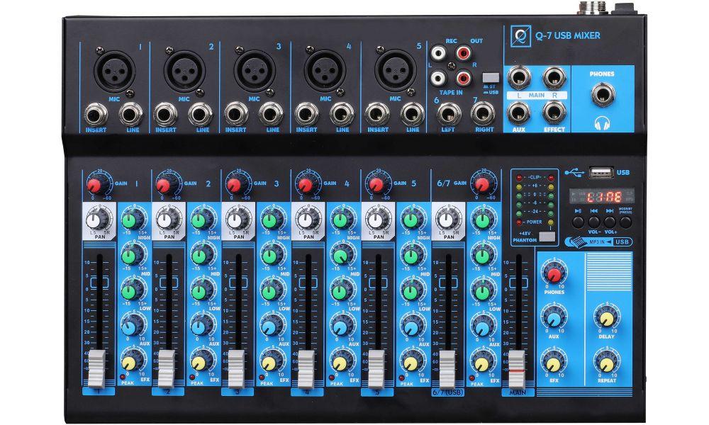 Compra OQAN Mixer Q7 Mk2 USB mesa de mezclas analogica al mejor precio