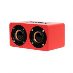 Oqan QBT-100 BT Speaker Red - Altavoz bluetooth