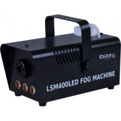 Ibiza LSM400LED-BK Mini Maquina de Humo 400W con 3 LED