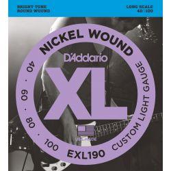 daddario exl190 custom light long scale [40-100]