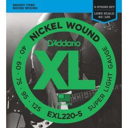 DADDARIO EXL220-5 Juego 5 Cuerdas Bajo [40-125]