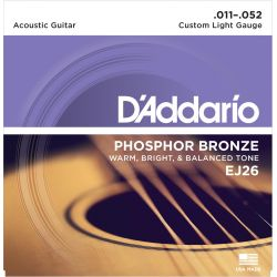 daddario ej26 - phosphor bronze custom light [11-52]