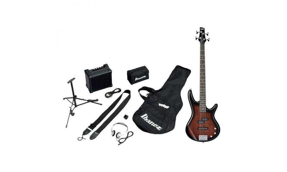 Compra Ibanez IJSR190-WNS Jumpstart - Walnut Sunburst - kit con amplificador, auriculares y soporte al mejor precio