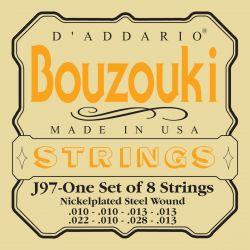 Daddario J97 greek bouzouki, 8-string, nickel wound