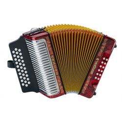 Hohner CORONA II GCF acordeon rojo