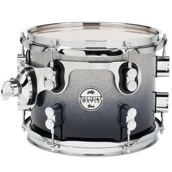 DW PDP Silver to black sparkle fade Toms Concept Maple