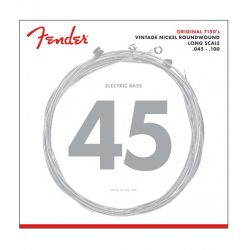 Fender Original 7150 Bass Strings Pure Nickel Roundwound Long Scale 7150ML .045-.100 Gauges (4)