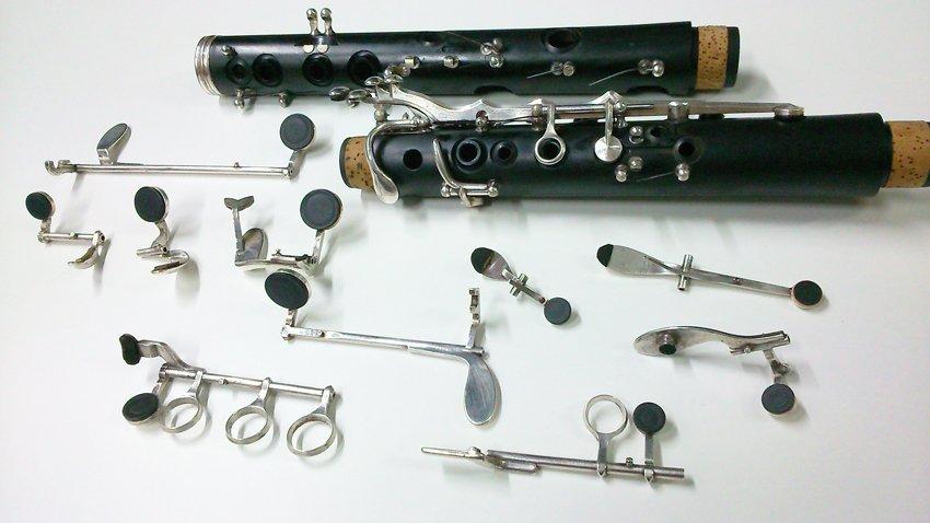 cambiar zapatillas a un clarinete