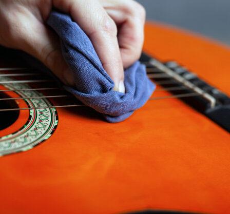 limpieza de guitarras covid-19