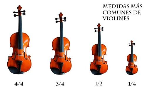 Tamaños de violines más comunes